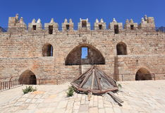 Damascus port i Jerusalem, inre sida Arkivfoton