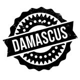 Damascus stamp rubber grunge Royalty Free Stock Images