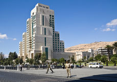 Damascus. Street view of the city of Damascus. Syria Royalty Free Stock Photo