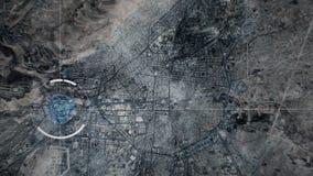 Damascus, Syri?, Toezichthommel of het satellietcamera spioneren royalty-vrije illustratie