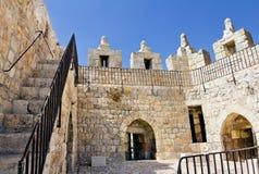 Damascus utfärda utegångsförbud för i Jerusalem. Insida beskådar Royaltyfri Foto