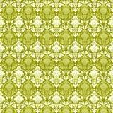 damask πράσινη εκλεκτής ποιότητ διανυσματική απεικόνιση