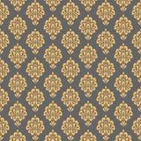damask πρότυπο άνευ ραφής floral επαναλάβετε το υπόβαθρο σύστασης ελεύθερη απεικόνιση δικαιώματος