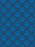 Damask πρότυπο μπλε EPS Στοκ εικόνες με δικαίωμα ελεύθερης χρήσης