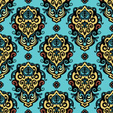 Damask  abstract  flower seamless vector Stock Image