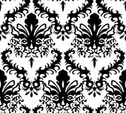 Damask background. Glamour seamless damask background texture ornamental floral like head of tiger Royalty Free Stock Images