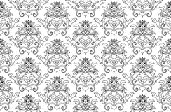 Damask background. Abstract seamless vector damask background for design use Royalty Free Stock Photos