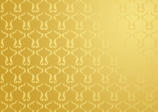Damask background gold Royalty Free Stock Photos