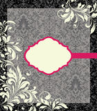 Damask background,invitation card Royalty Free Stock Images