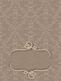 Damask background with space to write Stock Photo