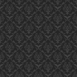 Damask background vector. Black damask background pattern vector Royalty Free Stock Photos