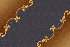 Damask backgrounds. Damask background with gold pattern Royalty Free Stock Photo