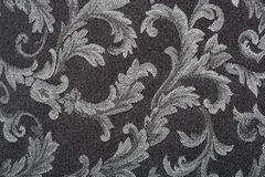 Damask, black fabric texture background Stock Photography