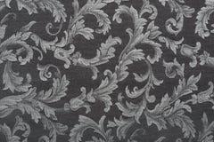 Damask, black fabric texture background. Damask, black pattern texture background royalty free stock images