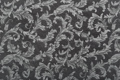 Damask, black pattern texture background Royalty Free Stock Photo