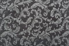 Damask, black pattern texture background. High detail royalty free stock photo