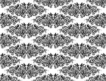 Damask Black and White Royalty Free Stock Photography