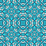 Damask blue pattern Royalty Free Stock Photo