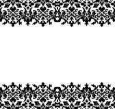 Damask Border. Border or frame of black damask Stock Image