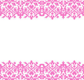 Damask Border pink Stock Photography