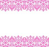 Damask Border pink. Border or frame of pink damask royalty free illustration
