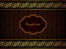 Damask card. Stock Images