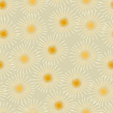 Damask Dandelion Orange Seamless Pattern Vector Royalty Free Stock Images