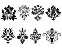 Damask emblem set vector illustration