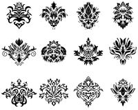 Damask emblem set Royalty Free Stock Photo