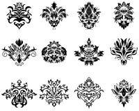 Damask emblem set Royalty Free Stock Photo