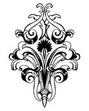 Damask Emblem Royalty Free Stock Images