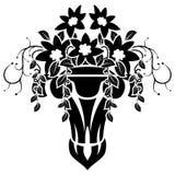 Damask Emblem Royalty Free Stock Photography
