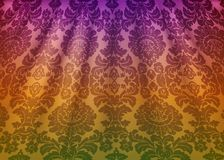 Damask fabric drape. Luxury wallpaper in the style of Baroque. Yellow grunge texture vector background with floral ornament. Damask fabric drape. Luxury vector illustration