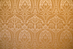 Damask fabric wall cover Royalty Free Stock Images