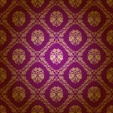 damask floral πρότυπο άνευ ραφής Στοκ φωτογραφίες με δικαίωμα ελεύθερης χρήσης