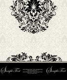 Damask floral card Stock Photography