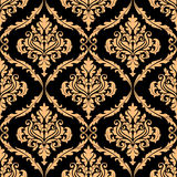 Damask floral pattern with brown Stock Images