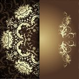 Damask floral pattern Stock Images