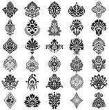 Damask Floral Pattern Set Stock Image