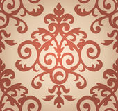 Damask  floral pattern. The wallpaper in Baroque. Style. Seamless vector background Stock Photography