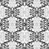 Damask floral seamless pattern with arabesque, oriental ornament. Abstract traditional decor for backgrounds, wallpaper, fabric de Stock Photo