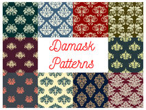 Damask floral seamless pattern of victorian flower Royalty Free Stock Photography