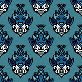 Damask Floral seamless vector pattern Royalty Free Stock Photo