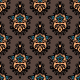 Damask floral vector design Royalty Free Stock Photo