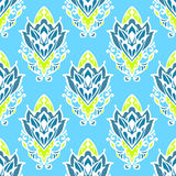 Damask Floral Vector Seamless Pattern Royalty Free Stock Photo