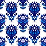 Damask flower flourish pattern Stock Image