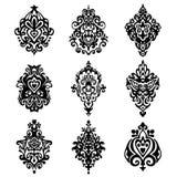 Damask flower ornamental designs Royalty Free Stock Image