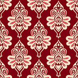 Damask Flower red seamless vector design Royalty Free Stock Photos