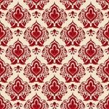 Damask flower seamless vector pattern Stock Photos