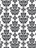 Damask foliage Pattern. Damask Style Pattern Background - BN texture - Vector Include layer whit pattern design source Stock Images